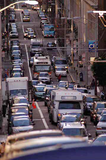 Street scene in downtown San Francisco, California