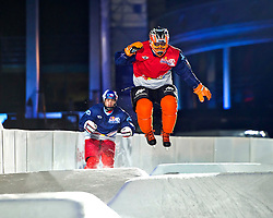 03-02-2012 SKATING: RED BULL CRASHED ICE WORLD CHAMPIONSHIP: VALKENBURG<br /> Glenn Bakx NED<br /> ©2012-FotoHoogendoorn.nl/Peter Schalk