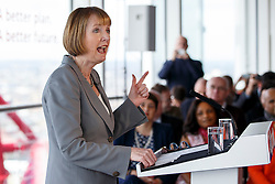 © Licensed to London News Pictures. 27/03/2015. LONDON, UK. Labour MP Harriet Harman attending to the launch of Labour's 2015 General Election campaign at Orbit, Queen Elizabeth Olympic Park in London on Friday, 27 March 2015. Photo credit : Tolga Akmen/LNP