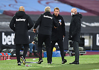 Football - 2020 / 2021 Premier League - West Ham United vs Brighton & Hove Albion - London Stadium<br /> <br /> Brighton & Hove Albion Head Coach Graham Potter with West Ham United manager David Moyes at the final whistle.<br /> <br /> COLORSPORT/ASHLEY WESTERN