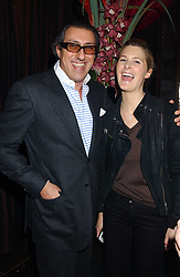 BROOSK SAIB and LADY KINVARA BALFOUR at the launch party of Purple Lounge - a new poker web site, held at The Cuckoo Club, Swallow Street, London W1 on 30th November 2005.<br /><br />NON EXCLUSIVE - WORLD RIGHTS
