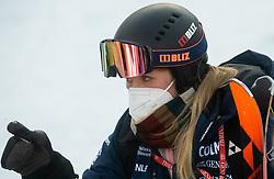 Physiotherapist Ana Mali during Ladies' Giant Slalom at 57th Golden Fox event at Audi FIS Ski World Cup 2020/21, on January 16, 2021 in Podkoren, Kranjska Gora, Slovenia. Photo by Vid Ponikvar / Sportida