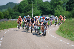 Lizzie Armitstead checks back to see who's left in the front group at Boels Hills Classic 2016. A 131km road race from Sittard to Berg en Terblijt, Netherlands on 27th May 2016.