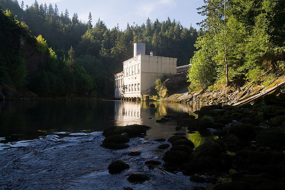 Power house of the lower dam of the Elwha River, in Olympic National Park, Washington. The removal of the upper and lower dams is scheduled for 2012.