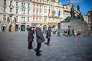 Prague - Old Town Square. On March 1st, 2021 the state of emergency in the Czech Republic was reinstalled because of fast increasing numbers in infections. The lockdown was reinstated and the restriction of the free movement of people has taken effect. Currently, the country remains at the highest stage of the anti-epidemiological system and the newly imposed restriction will last at least three weeks to curb the epidemic.