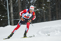 March 16, 2019 - –Stersund, Sweden - 190316 Felix Leitner of Austria competes in the Men's 4x7,5 km Relay during the IBU World Championships Biathlon on March 16, 2019 in Östersund..Photo: Johan Axelsson / BILDBYRÃ…N / Cop 245 (Credit Image: © Johan Axelsson/Bildbyran via ZUMA Press)