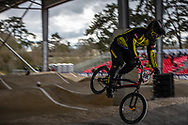 #996 (KRIGERS Kristens) LAT at the 2018 UCI BMX Superscross World Cup in Saint-Quentin-En-Yvelines, France.