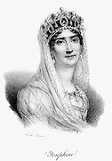 Josephine (1763-1814) Empress of France. Wife of Napoleon I 1798-1809. Lithograph c1830.