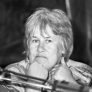NLD/Huizen/19920604 - Elske ter Veld geeft persconferentie over banencentrum Huizen