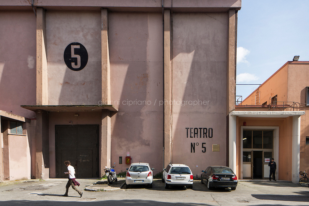 """ROME, ITALY - 30 MARCH 2015: Studio 5, Italian film director Federico Fellini's favorite, in Cinecittà, Rome, Italy, on March 30th 2015.<br /> <br /> Italy instated a special 25% tax credit for film productions in 2010. The industry then lobbied to remove the credit's cap, and last July, Italy lifted its tax credit limit from €5 million per movie to €10 million per company per year. <br />  <br /> Cinecittà, a large film studio in Rome, is considered the hub of Italian cinema. The studios were founded in 1937 by Benito Mussolini as part of a scheme to revive the Italian film industry. In the 1950s, the number of international productions being made here led to Rome being dubbed as the """"Hollywood on the Tiber"""". In the 1950s, Cinecittà was the filming location for several large American film productions like Ben-Hur, and then became the studio most closely associated with Federico Fellini.<br /> After a period of near-bankruptcy, the Italian Government privatized Cinecittà in 1997, selling an 80% stake.<br /> <br /> Currently Ben-Hur and Zoolander 2 are booked into Cinecittà Studios."""