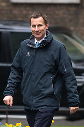 © Licensed to London News Pictures. 31/01/2017. London, UK. Health Secretary Jeremy Hunt arriving at Downing Street for a cabinet meeting this morning. Photo credit : Tom Nicholson/LNP