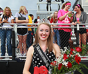 Lindenwood University - Belleville student Madison Farrier from St. Peters, MO was named the Football Homecoming Queen and was announced as such to the crowd during a half-time ceremony at Lindenwood's Homecoming Game against the visiting Menlo College Oaks.  The Homecoming King was Philepae Phillips, who is a defensive lineman on the football team and was in the locker room during the Homecoming Court presentation.  He is from Detroit, MI. The others behind Farrier are friends and relatives who had been photographing and videotaping her.
