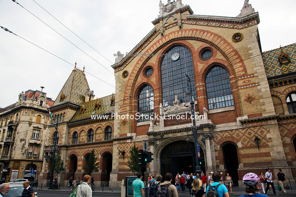 Exterior of Nagycsarnok the great central market in Budapest, Hungary