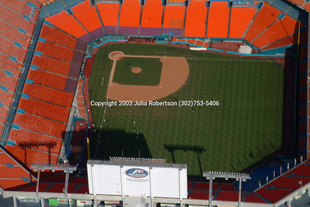 Aerial photograph of the ProPlayerStadium, Home of the Miami Dolphins & Florida Marlins