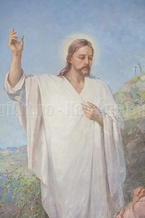 Kor og Altertavle i Indre Herøy Kirke.