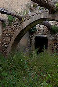 """Ruined buildin in the ancient Hellenic city of Polyrinia, Crete. The place name means """"many sheep"""" and it was the most fortified city in ancient Crete."""