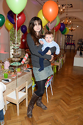 MARTHA FREUD and her daughter NANCY FREUD-SMITH at a children's tea party to celebrate the 80th anniversary of iCandy - the luxury British pushchair brand held at One Marylebone, Marylebone Road, London NW1 on 10th September 2013.