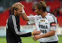 Fotball treningskamp Trondheim, Rosenborg - Sundsvall 7-0<br /> Erik hoftun og Vidar Riseth<br /> Foto: Carl-Erik Erikson, Digitalsport