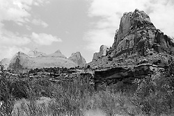 Capitol Reef National Park. View shot on Tri-X, Nikon Ftn camera, Nikor 35mm f/2 lens. 1000th sec F/11
