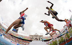 Eliseo Martin of Spain  competes in the Mens 3000m Steeplechase Heat during day four of the 20th European Athletics Championships at the Olympic Stadium on July 30, 2010 in Barcelona, Spain.  (Photo by Vid Ponikvar / Sportida)