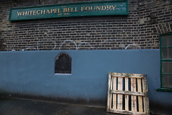 London, UK. 20 December, 2019. The historic Whitechapel Bell Foundry, which has produced some of the world's most famous bells such as Big Ben and the Liberty Bell. Plans to redevelop part of the bell foundry site as a hotel have recently been approved by Tower Hamlets Council.
