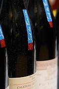 Neck strip label with Sud de France, South of France slogan. Languedoc. France. Europe. Bottle.