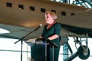 Minister Bijleveld opent in het Nationaal Militair Museum   de tentoonstelling 'Als de Russen komen', een tentoonstelling over Nederland en de Koude Oorlog.<br /> <br /> Op de foto:  MinisterAnk Bijleveld