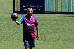 August 6, 2018 - August 6, 2018 - Camp Nou, Barcelona, Spain -Presentation of Arturo Vidal as new player of the FC Barcelona, in Barcelona (Credit Image: © AFP7 via ZUMA Wire)