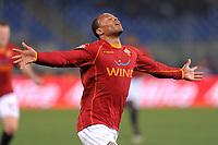 """Julio Baptista (Roma) celebrates scoring<br /> Esultanza dopo il gol<br /> Roma 14/1/2009 Stadio """"Olimpico"""" <br /> Campionato Italiano Serie A 2008/2009<br /> Roma Sampdoria (2-0)<br /> Foto Andrea Staccioli Insidefoto"""