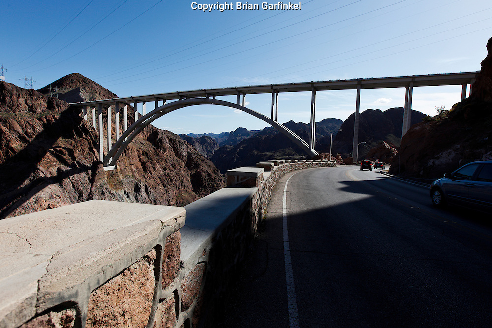 The bridge at Hoover dam in Nevada on March 26th 2011. (Photo By Brian Garfinkel)