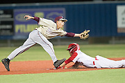 Victoria West's Xavier Solis slides into second during their game against the Tuloso-Midway Warriors at Riverside Stadium. Photo:Jaime R. Carrero/jcarrero@vicad.com