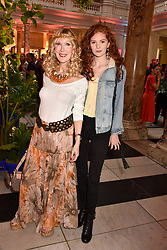 "Basia Briggs and Lizzie Mawson at the opening of ""Frida Kahlo: Making Her Self Up"" Exhibition at the V&A Museum, London England. 13 June 2018."