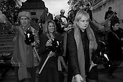 ANDREW LOGAN; TRACEY EMIN; LOUISA BUCK, LOUISA BUCK, INTERCOURSE: Re-enacting Eisenstein: The Odessa Steps Sequence from Battleship Potemkin<br /> Jane and Louise Wilson directed the re-enactment on the steps outside the ICA. 26 November 2011.