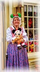 Celebrating Christmas early at the Magc Kingdom in Orlando, Florida.