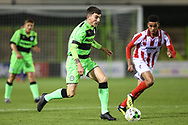 Forest Green Rovers Lewis Spurrier(8) on the ball during the FA Youth Cup match between U18 Forest Green Rovers and U18 Cheltenham Town at the New Lawn, Forest Green, United Kingdom on 29 October 2018.