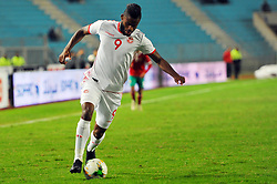 November 20, 2018 - Tunis, Tunisia - Firas Chaouat (9) Tunisian player during friendly Match between Tunisia and Morocco already qualified for the African Continental Tournament at the Olympic Stadium in Rades. (Credit Image: © Chokri Mahjoub/ZUMA Wire)