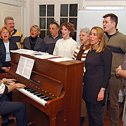 Koor de Brinck Singers Laren oefenen