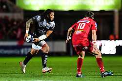 Toulon's Ma'a Nonu in action during todays match<br /> <br /> Photographer Craig Thomas/Replay Images<br /> <br /> European Rugby Champions Cup Round 5 - Scarlets v Toulon - Saturday 20th January 2018 - Parc Y Scarlets - Llanelli<br /> <br /> World Copyright © Replay Images . All rights reserved. info@replayimages.co.uk - http://replayimages.co.uk