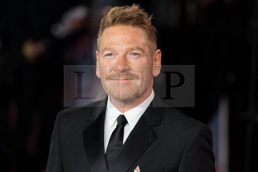© Licensed to London News Pictures. 02/11/2017. London, UK. KENNETH BRANAGH attends the world film premiere of Murder On The Orient Express. Photo credit: Ray Tang/LNP