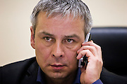 """Moscow, Russia, 24/11/2006.&#xA;Dmitri Kovtun, one of the two Russian men British police wish to question in connection with the apparent poisoning and subsequent death of former KGB agent Andrei Litvinenko in London. Kovtun, previously identified only as """"Vladimir"""", and his business partner Andrei Lugovoy, met Litvinenko shortly before he was taken ill.<br />"""