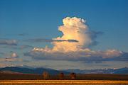 Storm cloud over the San Luis Valley, Colorado