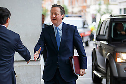 © Licensed to London News Pictures. 12/06/2016. London, UK. Prime Minister DAVID CAMERON arrives at BBC Broadcasting House in London to appear on The Andrew Marr show on BBC One on Sunday, 12 June 2016. Photo credit: Tolga Akmen/LNP