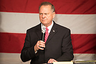Roy Moore in Fairhope, Alabama on December 5, 2017 at a rally before the election.