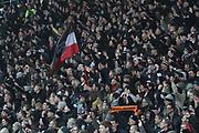 Deutschland, Hamburg. 12.02.16 2. Fussball Bundesliga Saison 2015/16 - 21. Spieltag FC St. Pauli - RasenBallsport Leipzig<br /> im Millerntorstadion<br /> <br /> FC St. Pauli-Fans<br /> <br /> © Torsten Helmke