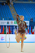 Ruprecht Nicol during qualifying at hoop in Pesaro World Cup at Adriatic Arena on April 10, 2015. Nicol born on October 2, 1992 in Innsbruck. She is a rhythmic gymnast member of the Austria National Team.