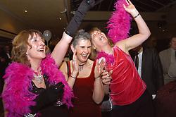 Women enjoying themselves at Charity Ball Lancashire UK