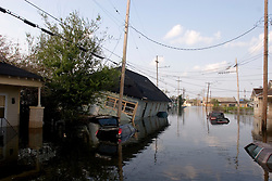 05 Sept  2005. New Orleans, Louisiana. Post hurricane Katrina.<br /> A trip to uptown New Orleans along Napolean Ave. Reflections of a city that used to be. Devastating floods in Uptown New Orleans.<br /> v