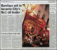 Cafe Rouge, Soho / The Sunday Times / August 2004