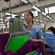Mongolia. Ulaanbaatar. Goyo cashmere factory, one of the largest cashmere factory in . workshops  Ulanbaatar -   / Goyo cachemire , une des plus grande societe et usine de cachemire en Mongolie ,filature et atelier de couture tissage  Oulan Bator - Mongolie