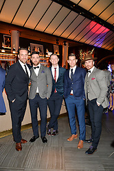 The Overtones at the fourth annual Fayre of St James's charity Christmas concert hosted by the Quintessentially Foundation and The Crown Estate in partnership with Deutsche Asset & Wealth Management held at  St James's Church, 197 Piccadilly, London followed by a party at Quaglino's 16 Bury Street, London on 24th November 2015.
